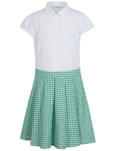 Teal School Dress