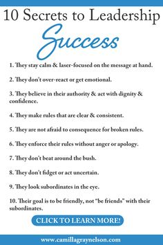 10 Secrets to Leadership Success - If you are searching for ways to get more respect and cooperation from your staff or subordinates a - Servant Leadership, Good Leadership Quotes, Career Quotes, Leadership Coaching, Educational Leadership, Success Quotes, Teamwork Quotes, Leader Quotes, Leadership Activities
