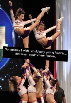I seriously wish i started cheer when i was little and i wish i could do it forever now!!
