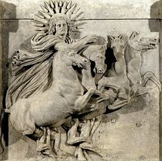 Helios-Metope - Troja Athena-Tempel Berlin Pergamon Museum