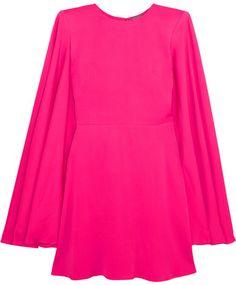 Alexander McQueen - Cape-back Crepe Mini Dress - Fuchsia