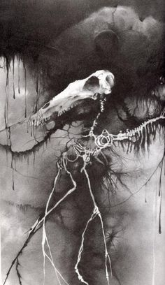 """Pin for Later: The 16 Most Chilling Illustrations From Scary Stories to Tell in the Dark """"Bess"""" Ah yes, good ol' Bess. Just casually haunting your nightmares like it's no big deal."""