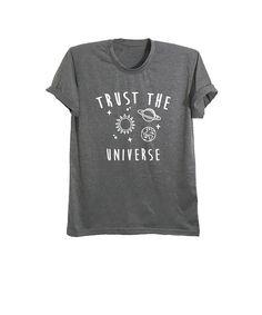 Trust the universe shirt space t-shirt womens graphic tee mens tshirt #universe shirt #planet shirt #saturn shirt #galaxy #galaxy shirt #stars shirt #moon shirt #gray shirt #heather grey #women #mens #ladies #girls #teenager #party #tops #hippie #punk #funky #fresh top #cool #cute #cute tee #boho #look #love #inspo #OOTD #RAD #lookbook #instagram #instafashion #shopgracieusa #topshop #cyber Monday #black friday