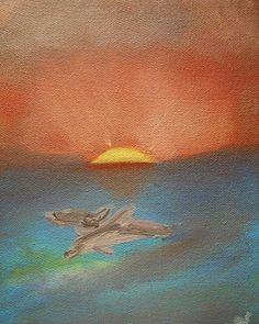 Delfines #paleont #arte #óleo #cuadroartistico #pintura #méxico xico #dinosaurod…