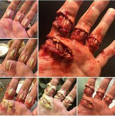 Gory and gruesome hand