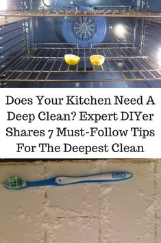 If your kitchen needs a deep clean, make sure to read this. It has all the tips you need for an effective, deep clean!#diy#cleaning#lifehacks #kitchen