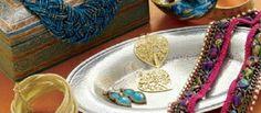 world market blue earrings
