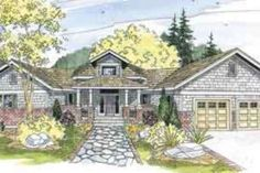 Craftsman Style House Plan - 3 Beds 2 Baths 2635 Sq/Ft Plan #124-547 Exterior - Front Elevation - Houseplans.com