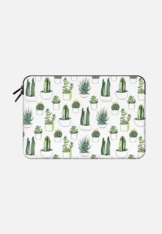 Watercolour Cacti & Succulents Macbook Pro 13 sleeve by Vicky Webb | Casetify