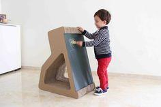 K24 - Mobiliario infantil de cartón by Pepe Sanmartín, via Behance