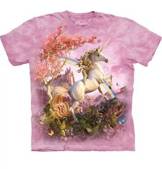 Time for a new cool graphic t-shirt? Try the Awesome Unicorn Kids T-Shirt on for size! Shop The Mountain website for the largest and coolest selection of fantasy t-shirts online. Kids Shirts, Tee Shirts, Tees, Rainbow Fairies, Rainbow Flowers, Unicorn Fantasy, Unicorn Kids, Rainbow Unicorn, Unicorn Shirt