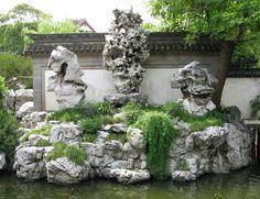 Chinese rocks in a garden Most Beautiful Gardens, Beautiful Rocks, World's Most Beautiful, Chinese Plants, Chinese Garden, Land Art, Spot Design, Garden Photos, China Travel