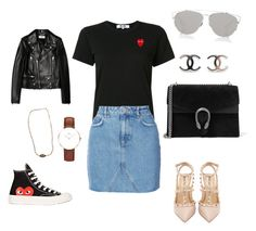 Comme des garçons ootd by ootdparis on Polyvore featuring polyvore, fashion, style, Play Comme des Garçons, Yves Saint Laurent, Anine Bing, Valentino, Gucci, Daniel Wellington, Dinh Van, Christian Dior and clothing