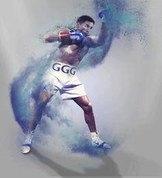 Gennady Golovkin ggg boxing fan art poster pub