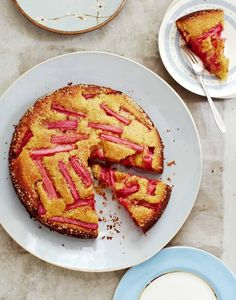 Bill Granger recipe: Rhubarb, honey and lemon cake - Recipes - Food & Drink - The Independent