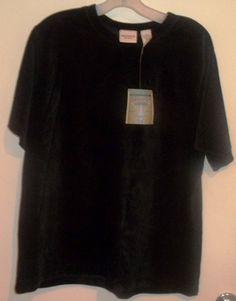 @C99SALE Crossroads Woman Black Cotton Blend Top 1x #eBay