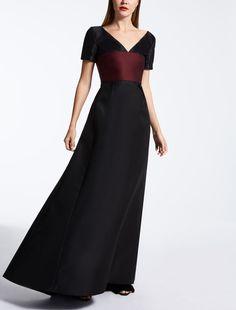 Max Mara DEDE schwarz: Kleid aus Duchesse.