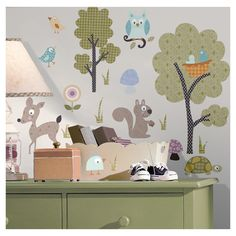 Found it at Wayfair - Studio Designs 89 Piece Woodland Animals Wall Decal Sethttp://www.wayfair.com/daily-sales/p/Kid-Approved-Prints-%26-Decals-Studio-Designs-89-Piece-Woodland-Animals-Wall-Decal-Set~RZM2810~E12899.html?refid=SBP.rBAZEVNVWcwYhSRdP2-6ApUkY5ySmErCvdKKm2pl0qI