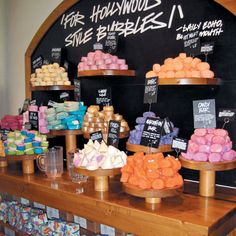 Lush bubble bars...baths have never been the same.