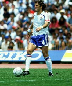 Patrick Battiston of France at the 1986 World Cup Finals.