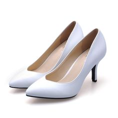 27.00$  Buy now - http://alig5l.shopchina.info/go.php?t=32734609626 - New 2017 Size 33-41 Sheepskin White Sexy Pointed Toe High Heels Talon Women Pumps Ladies Shoes Woman Chaussure Femme  #bestbuy