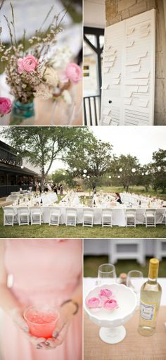 Backyard New Braunfels Wedding by Mustard Seed Photography | The Wedding Story ~ Want to use babies breath with roses, and lights outside ~
