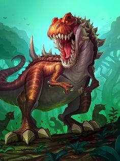 T Rex Dinosaur jungle #hearthstone #warcraft