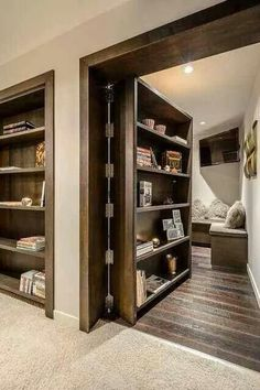 If I keep my house, maybe I'll do something like this for the front bedroom wall area... turn that room into an office.