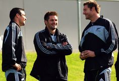 Richard Kahui, Richie McCaw, and Ali Williams Photo - All Blacks Training Session