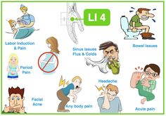 LI 4 is a super powerful acupuncture point with so many functions! – Any disorder affecting the face: sinus, jaw pain, toothache, pink eye, twitches, swelling… – External Pathogens invasion such as flus & colds. – Abdominal pain, constipation, diarrhea. – Any type of pain, anywhere, especially headache. – Painful menstruation, difficult childbirth. – But counter-indicated during pregnancy, until the last stage.