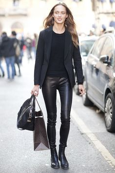 street style leather pant