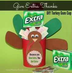 Give Extra Thanks with an Extra Gum Turkey Cup This Thanksgiving #ExtraGumMoments #ExtraGum #GiveExtraGetExtra #shop Thanksgiving Crafts For Kids, Thanksgiving Parties, Thanksgiving Recipes, Happy Thanksgiving, Thanksgiving Decorations, Turkey Cup, Extra Gum, Turkey Craft, Community Events