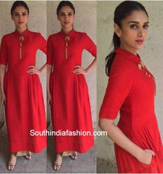 payal khandwala outfit | Aditi Rao Hydari promoted her film Wazir in a collared dress dress by ...