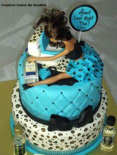 """About Last Night Tho"" LOL Betrunkener Barbie-Kuchen ! 18th Birthday Cake For Girls, Funny Birthday Cakes, Funny Cake, Adult Birthday Cakes, 21 Birthday, Drunk Barbie Cake, Bolo Barbie, 21st Bday Ideas, 21st Cake"