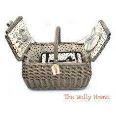 Cesta de picnic  de 2 servicios con bola térmica extraíble de The Welly Home