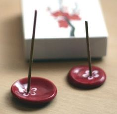 emuse: polymer clay incense holders