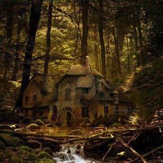 Dreamy fairytale house, makes me think of something in a storybook.  Love this!