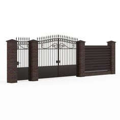 3Ds Max Wrought Iron Gate Fence - 3D Model