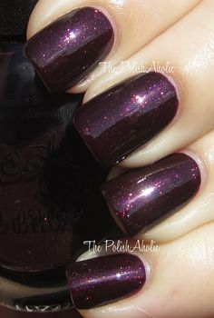 OPI - Stir-fried Eggplant. Repackaged Nicole by OPI - Smile for the Glam-era