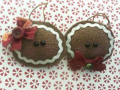 Gingerbread Burlap Ornaments