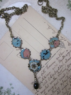Tin Jewelry Necklace Old Hollywood Tin for the Ten by TheMadCutter, $32.00