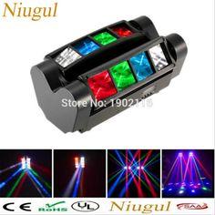 Niugul High quality 8X10W Mini Led Spider Light DMX512 LED Moving Head Light led Beam club dj disco lighting KTV lamps RGBW Beam