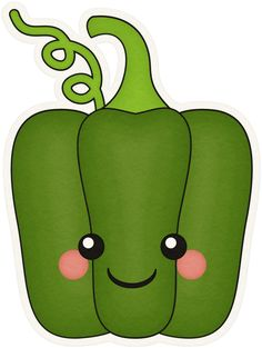 """Photo from album """"{_Veggie Garden"""" on Yandex. Fruit Clipart, Food Clipart, Cute Clipart, Vegetable Cartoon, Face Stickers, Fruit Art, Fruit And Veg, Cute Food, Colorful Pictures"""