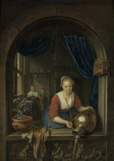 "1.1. Запас 4. Дау Герард. Горничная в окне. 1660. (""Беттина""). Роттердам. Музей Бойманса — ван Бёнингена."