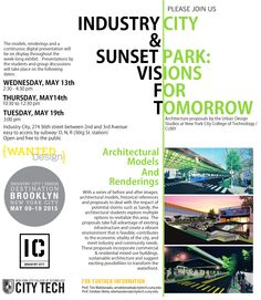 Join Urban Design Studios at City Tech tomorrow for Architecture Proposals (see image for details)