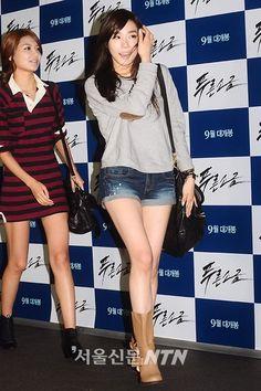 [110823] Tiffany at  'Blue Salt' VIP Premiere