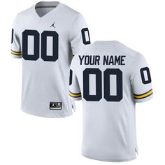 Michigan Wolverines Brand Jordan Custom Replica Football Jersey - White