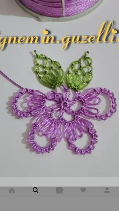 ... Crochet Unique, Needle Lace, Filet Crochet, Knots, Needlework, Diy And Crafts, Crochet Earrings, Embroidery, Knitting