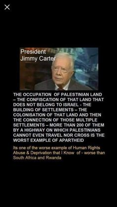 Apartheid, Jimmy Carter, Palestine