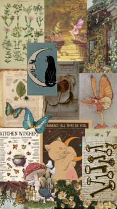 Herbal Witch Aesthetic Wallpaper Collage - Follow @libbyirenewallpapers For More!